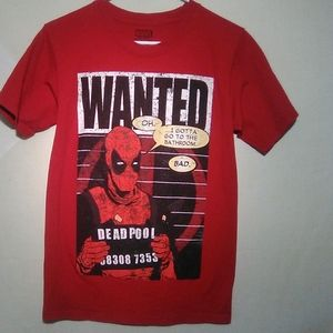 Marvel Deadpool red t-shirt. Small. #519